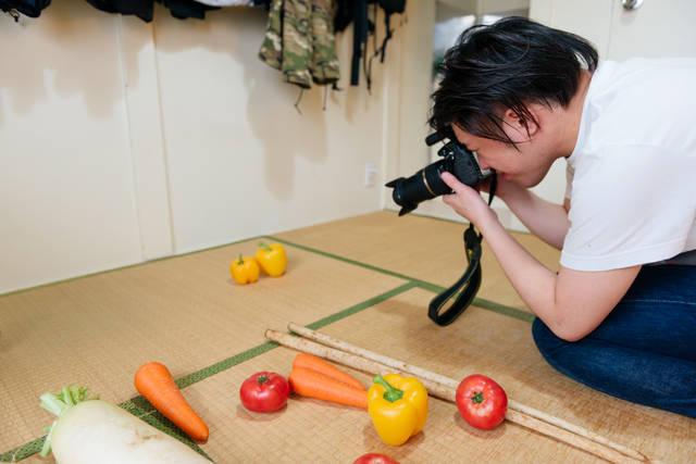 稲田さん 野菜 撮影