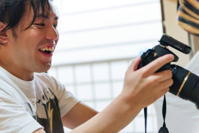 稲田さん 撮影