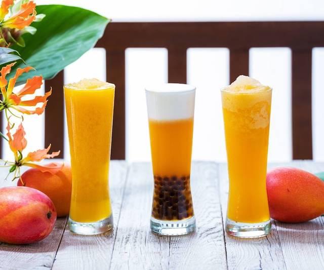 日本限定ドリンクや夏季限定のマンゴーティーも用意