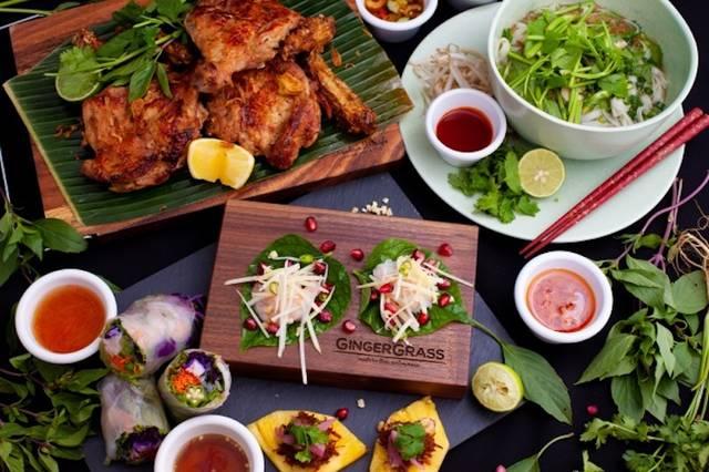 「GINGER GRASS modern thai Vietnamese」──刺激的なタイ料理と優しいベトナム料理をモダンに表現した豊富なメニュー