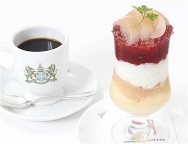 イノダコーヒ「桃のパフェ」(コーヒー付・税込1,500円)