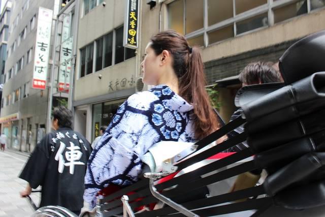 浴衣 デート 日本橋 人力車