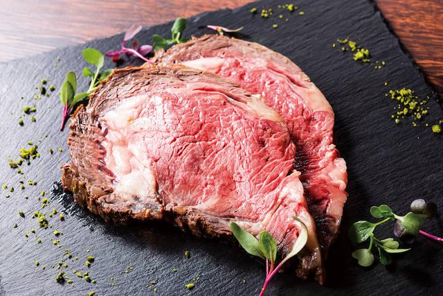 土・日・祝日限定ディナーメニュー「十勝牛のローストビーフ」