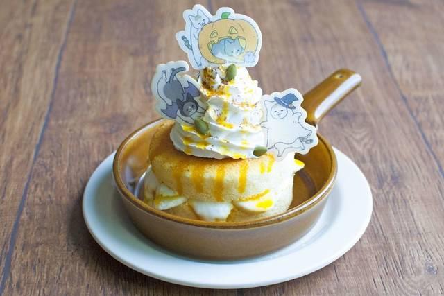 「こうもりトンちゃんとおばけシノさんのかぼちゃパンケーキ」(1,150円)
