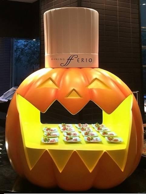 約1mの巨大かぼちゃも登場