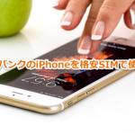 格安SIMでソフトバンクのスマホ・iPhoneを使う方法を紹介!