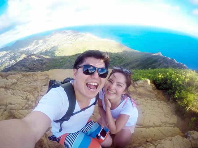 ハワイのダイヤモンドヘッドで撮った写真。SIMフリーと...