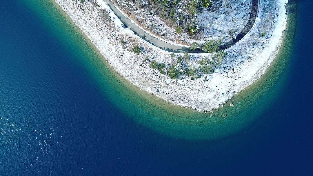 本栖湖の透明度