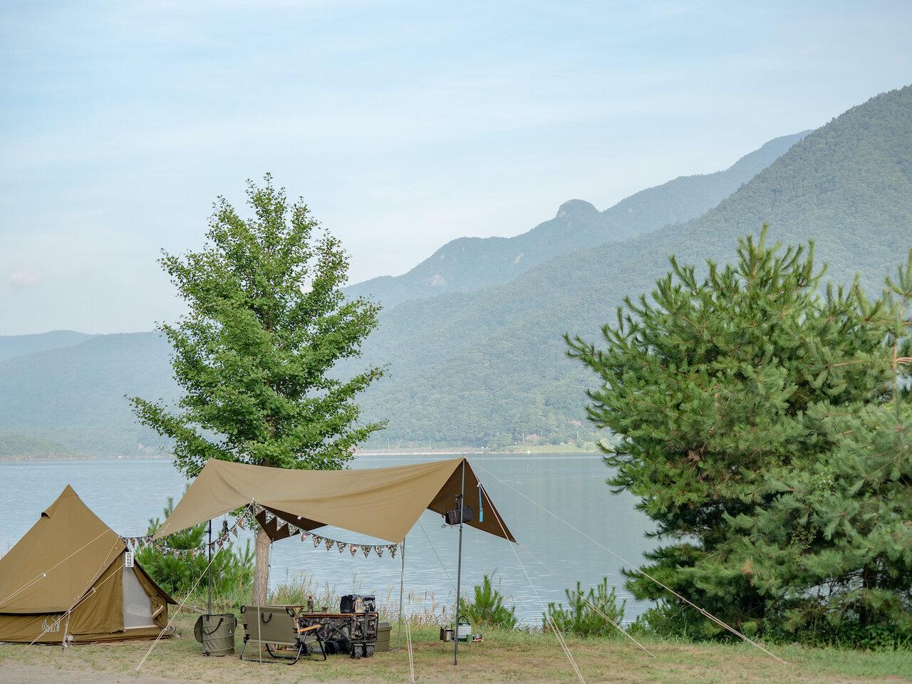 お盆明け!富士河口湖町キャンプ場巡り再開!西湖の津原キャンプ場にこもって書類作成作業に専念してきました