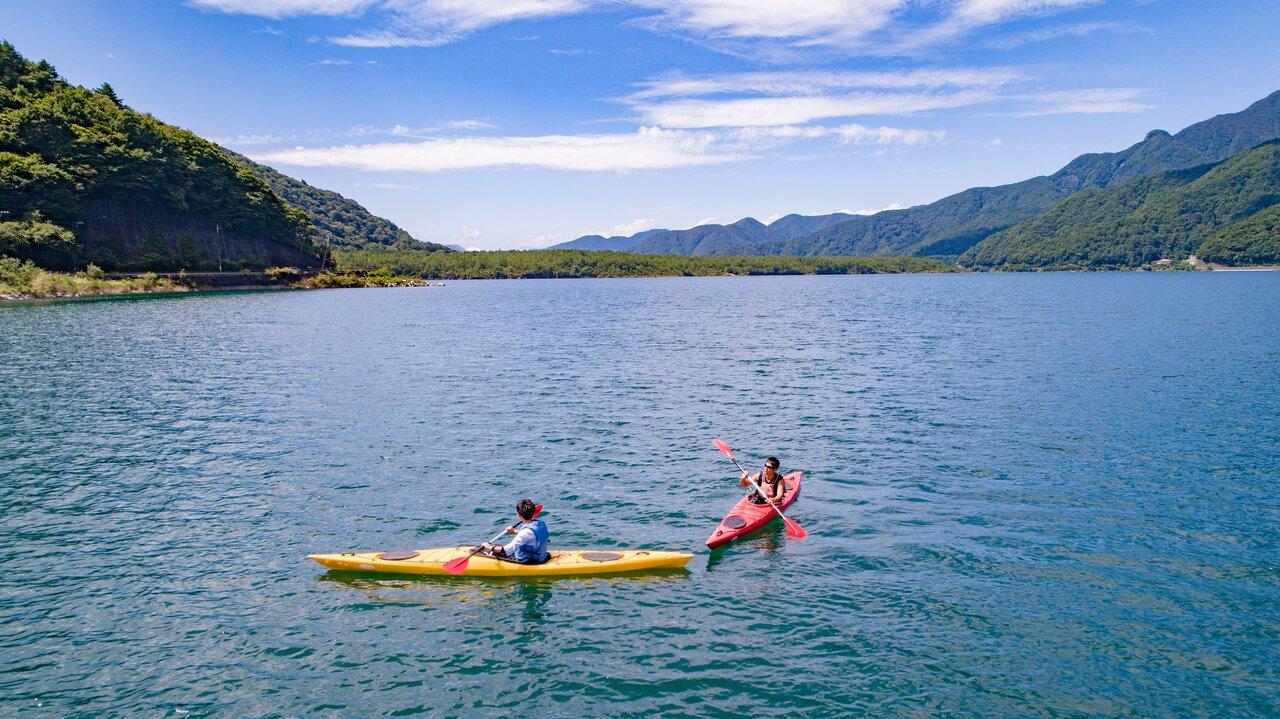 西湖の達人と行く湖上旅!原点回帰の大自然でカヌー・カヤック体験