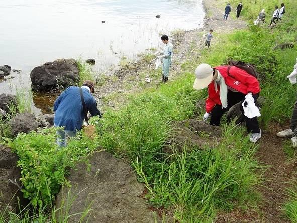 富士河口湖町 1万人の清掃活動に学生・教職員が参加|健康科学大学 (372)