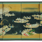 Fireworks in Ryogoku ; Japanese Art Series 11