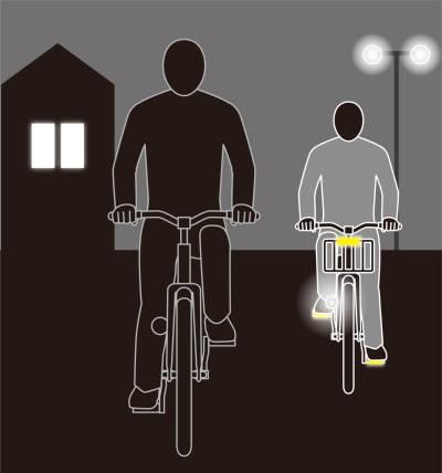 自転車の反射板がないと道路交通法違反に!車から命を守れ!