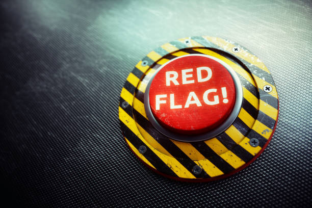 Red Flag Warning Button Con...
