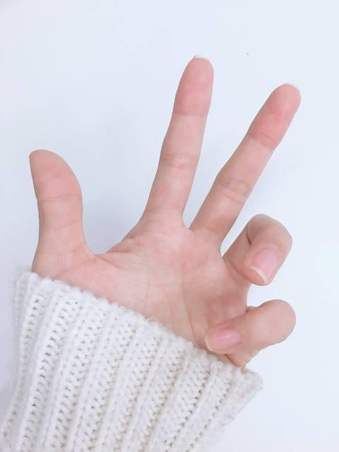 筆者の左手