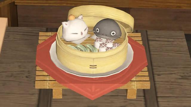 ゲーム内の饅頭蒸籠