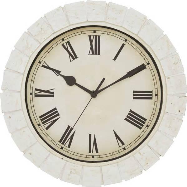 「掛け時計 ピアトラ(WH)」1,990円