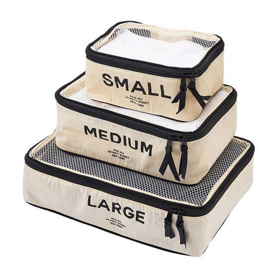 「Bag-all パッキングキューブ」各1,620~2...