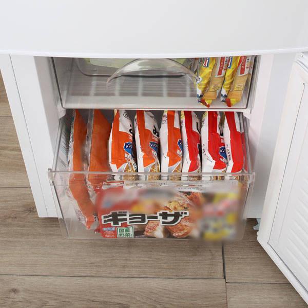 冷凍庫は引出タイプで、整理しやすい!