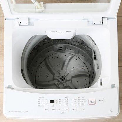 ガラス扉だから、洗濯中の確認ができて安心