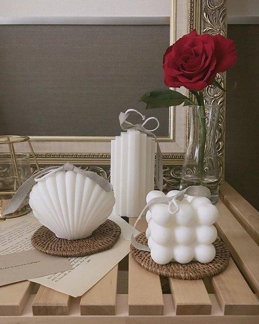 atelier.w.candleのキャンドルは芸術的