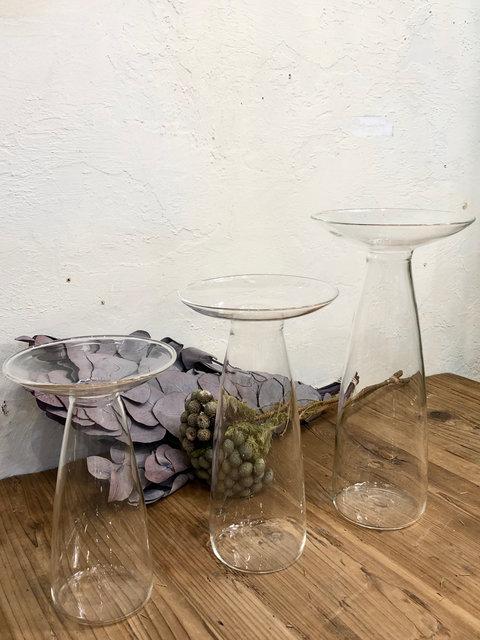 ガラス ベース エリンギウム(S)¥2,200、(M)¥2,640、(L)¥3,080