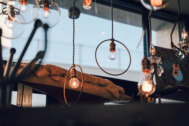 HOOP LAMP / 真鍮照明 12,430円 ※「POINT No.39」で取り扱っています。