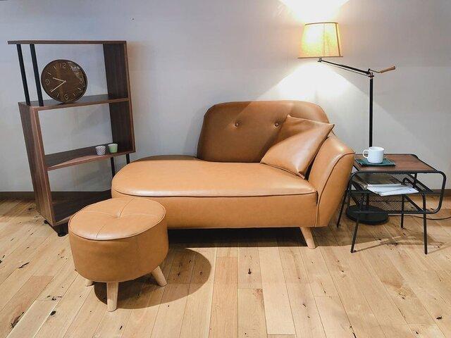 ソファ(オットマン付き) 59,800円/ブラウン、ブルー、グレーの3色展開