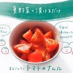 Vol.4 「トマトのナムル」夏野菜×漬けるだけ!【一人暮らしのゆるっとレシピ】 - とりぐら|一人暮らしの毎日がもっと楽しく