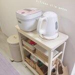 使いやすいキッチンへ! キッチンワゴンを使った収納アイデア4選 - とりぐら|一人暮らしの毎日がもっと楽しく