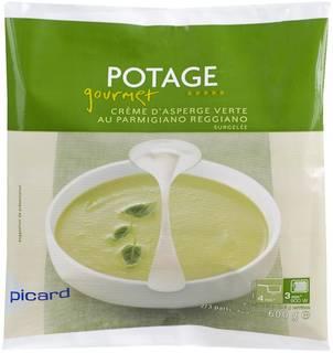 パルミジャーノ・レッジャーノとグリンアスパラガスのクリームスープ ¥951(税込) (12359)