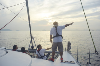 YACHT CRUISING ON THE SETO INLAND SEA FROM TAKAMATSU PIER