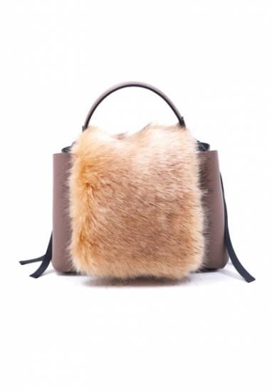 Rabbit fur bag