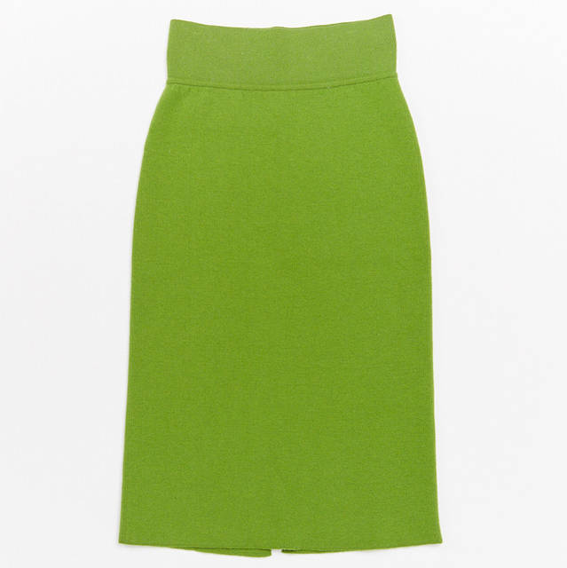 light green knit skirt