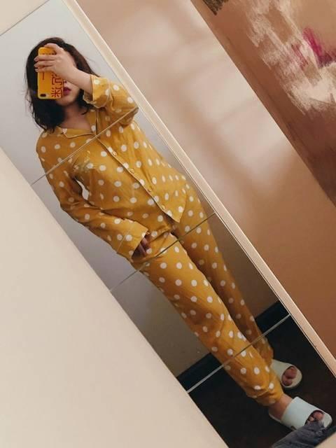 ドット柄のパジャマ