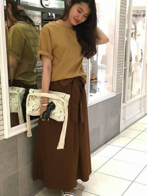 【ブランド:IENA  RIBON】フレアーイージースカート