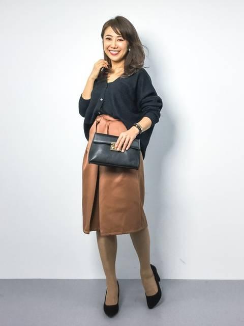 【ブランド:MERCURYDUO】FrontリボンAラインスカート