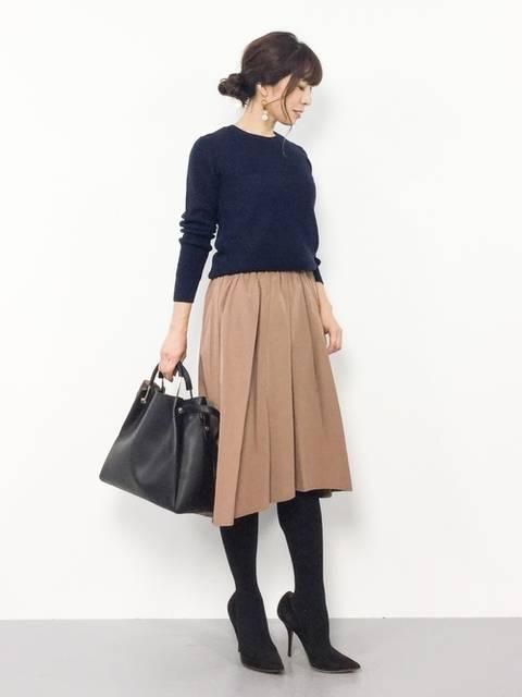 【ブランド:ViS】起毛フィッシュテールギャザースカート