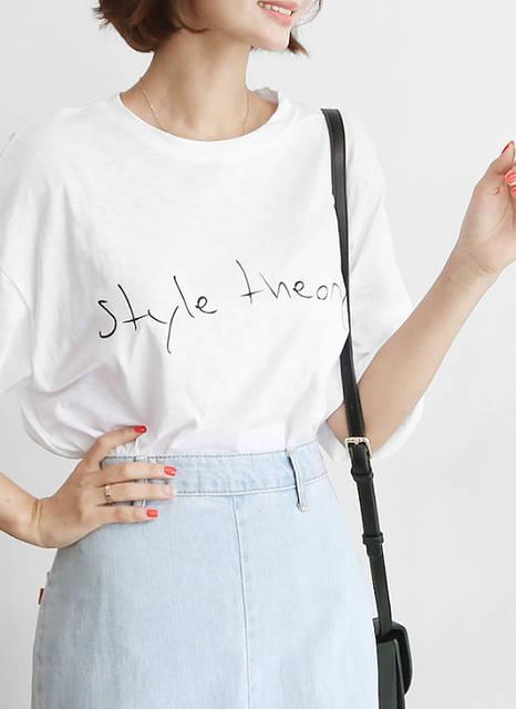 [annpiona] style theoryレタリングTシャツ