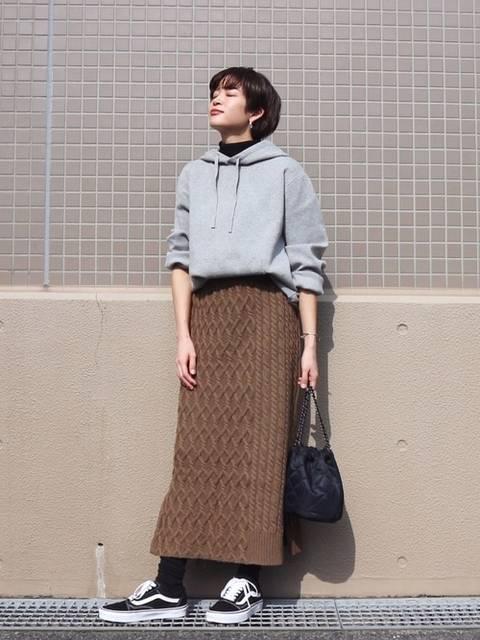 ブラウンニットスカート