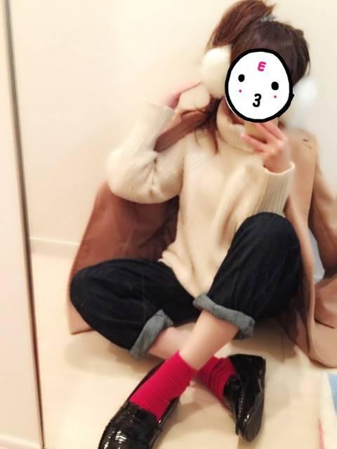 赤靴下×スリッポン