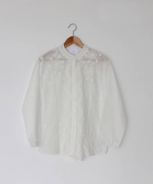 :cawaii  可憐な花の白ブラウストップス