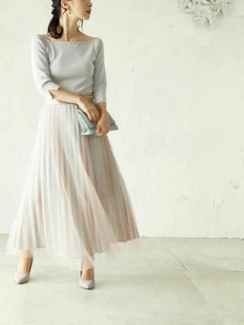 cawaiiのロングスカートとカットソーのコーデ