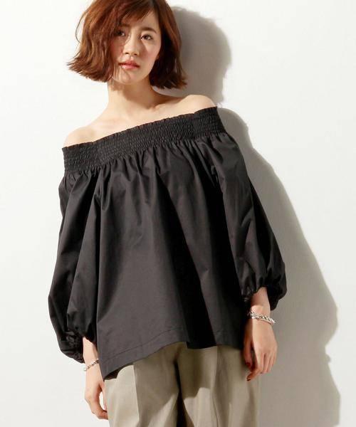 レディース人気ブランドUNITED ARROWSシャーリング黒シャツ