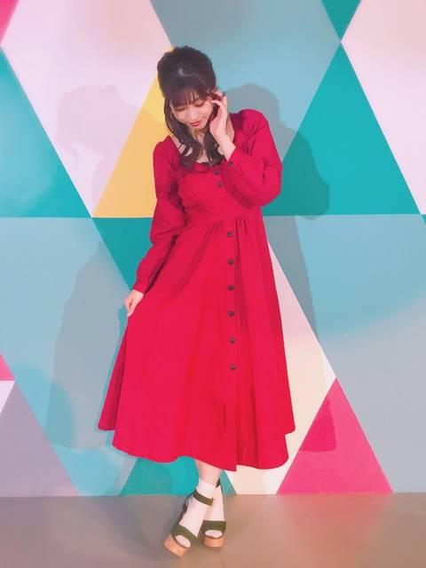 MOUSSYの50年代ファッション風STRIPE FLARE DRESSコーデ
