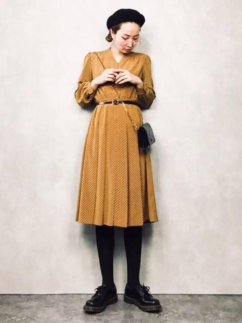 GEORGE AND KEWPiEの50年代ファッション風レトロな古着ワンピース
