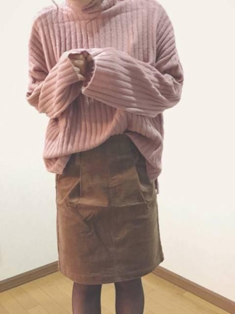 GRL  ベルト付きコーデュロイスカート