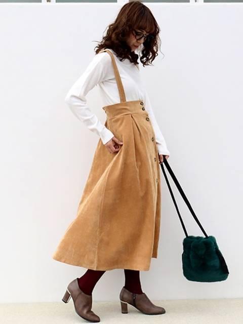 CHARM BERRY TICコーデュロイスカート