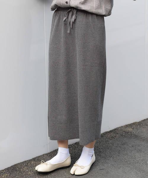 w closet  ベアテレコタイトスカート