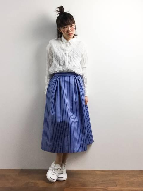 YANUKビッグシャツ春のおしゃれレディースコーデ